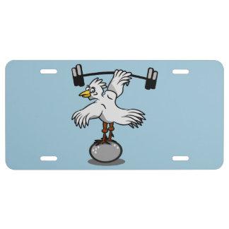 Pesos de elevación del pollo placa de matrícula