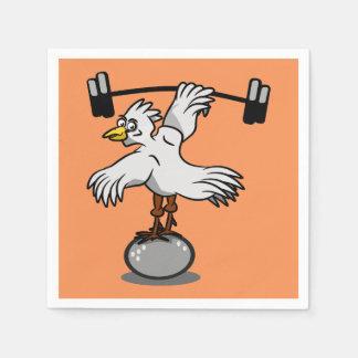 Pesos de elevación del pollo servilleta de papel
