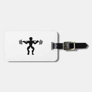 Pesos de elevación del Weightlifter Etiquetas Para Equipaje