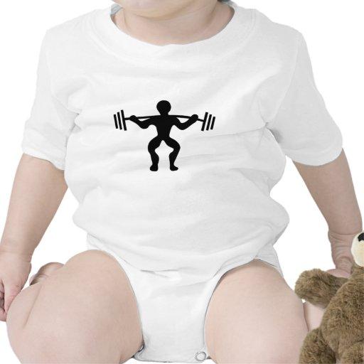 Pesos de elevación del Weightlifter Traje De Bebé