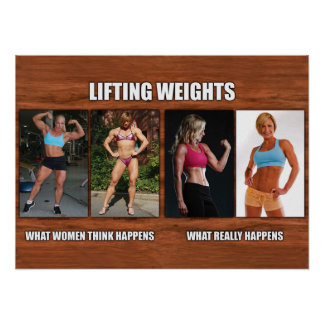Pesos de elevación - suceden qué mujeres piensan impresiones