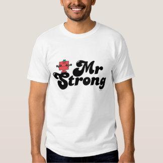 Pesos de Sr. Strong el | y letras de la burbuja Remeras