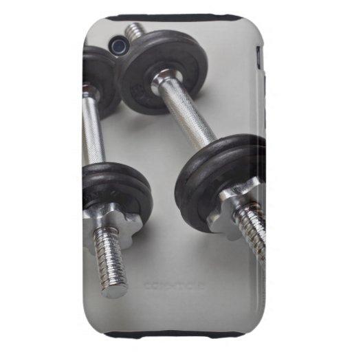 Pesos del entrenamiento tough iPhone 3 cárcasa
