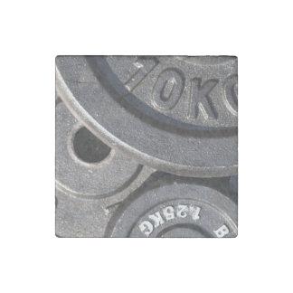 Pesos del gimnasio imán de piedra