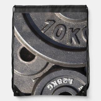 Pesos del gimnasio mochila