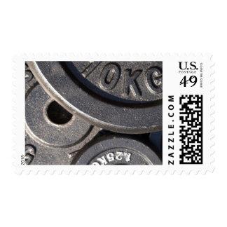 Pesos del gimnasio sellos