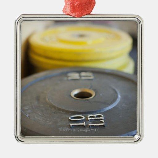 Pesos en el gimnasio, playa de Newport, Condado de Ornamento Para Arbol De Navidad