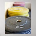 Pesos en el gimnasio, playa de Newport, Condado de Póster