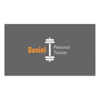Pesos personales del instructor de la aptitud tarjetas de visita