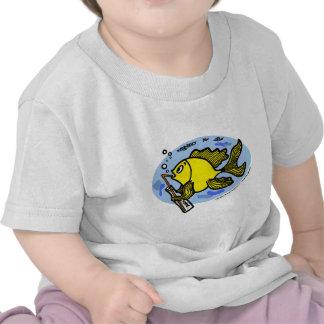 Pesque el agua potable - camiseta divertida linda