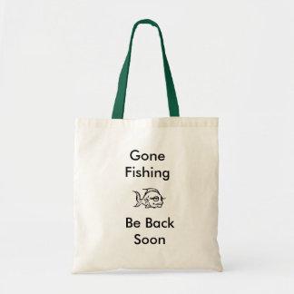 pesque, pesca ida, esté detrás pronto bolsa de mano