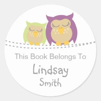 Pesrsonalised Owl Book Stickers