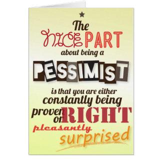 Pessimisim Card