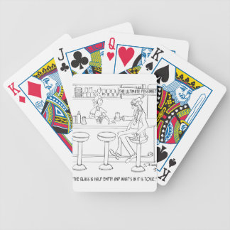 Pessimist Cartoon 9333 Bicycle Playing Cards