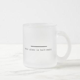 Pessimist or Optimist? Frosted Glass Coffee Mug