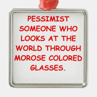 pessimist christmas ornaments