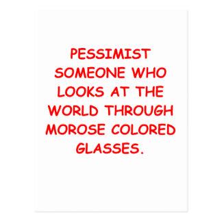 pessimist postcard