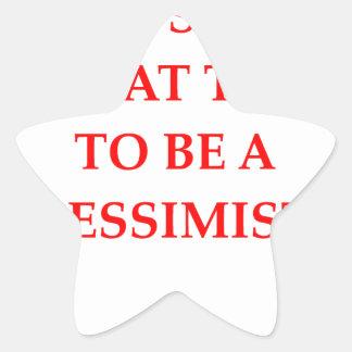 PESSIMIST STAR STICKER