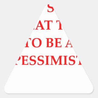 PESSIMIST TRIANGLE STICKER