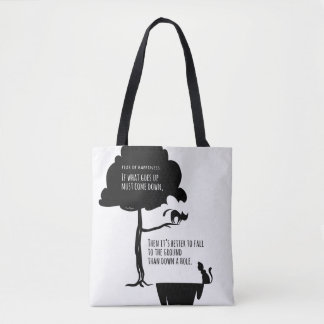 Pessimist's Optimism: Fear of Happiness Cats Tote Bag