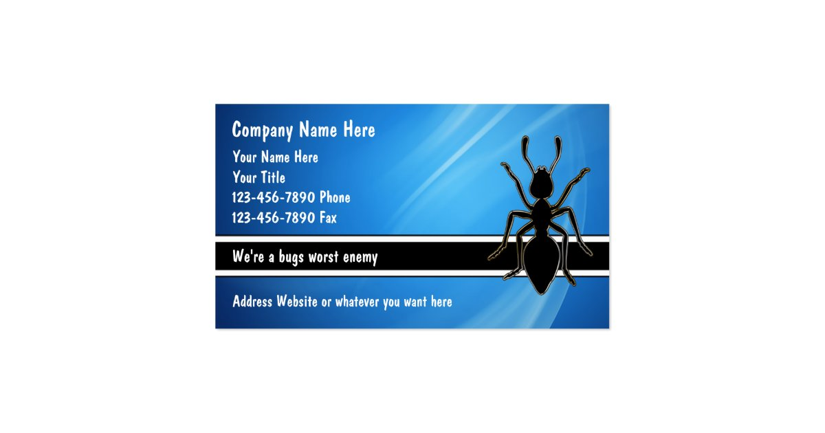 Pest Control Business Cards Zazzle