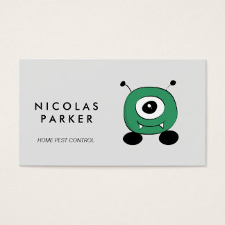 Pest Control Cute Funny Bug Business Card