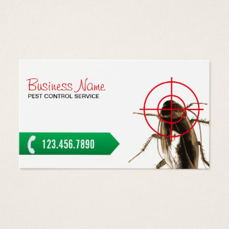Pest Control Professional Bug Killer Business Card