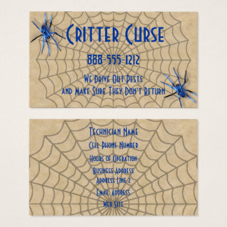 Pest Control Spiders and Web Business Card