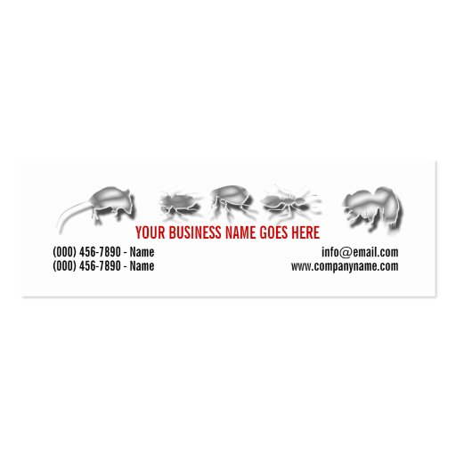 Pest Vermin Control Personalize Double-Sided Mini Business Cards (Pack Of 20)