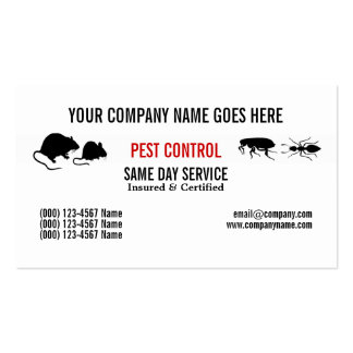 Pest Vermin Control Personalize Business Cards