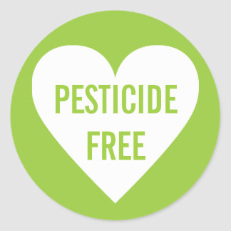 Pesticide Free Organic Culinary Label Classic Round Sticker