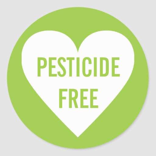 Pesticide Free Organic Culinary Label Round Stickers
