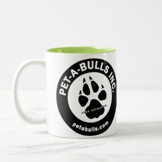 Pet-A-Bulls Two-Tone Coffee Cup Two-Tone Coffee Mug