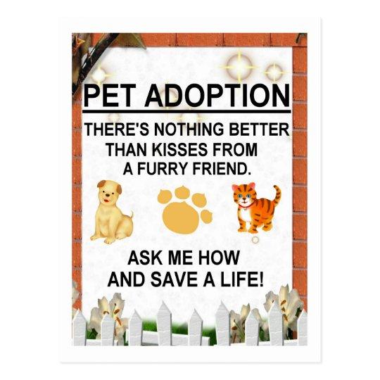 Pet adoption - Ask Me How! Postcard