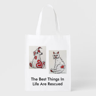 Pet Adoption Awareness Reusable Bag