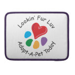 Pet Adoption_Heart-Paw_Lookin' Fur Luv Sleeve For MacBooks