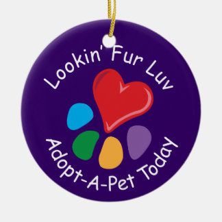 Pet Adoption_Heart-Paw_Lookin' Fur Luv_pet photo Ornament