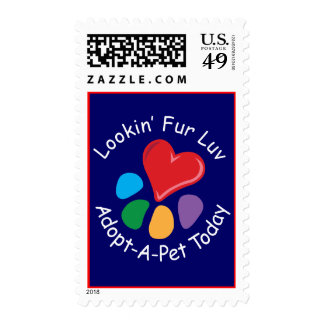 Pet Adoption_Heart-Paw_Lookin Fur Luv postage
