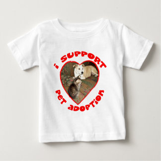 Pet Adoption Kitten With Pit bull Baby T-Shirt