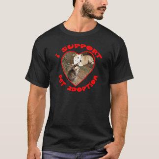 Pet Adoption Kitten With Pit bull T-Shirt