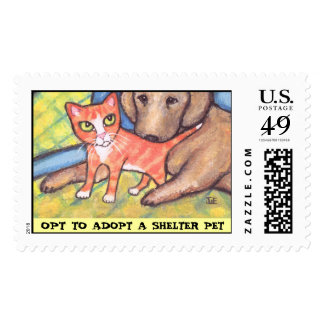 Pet Adoption Message Stamp