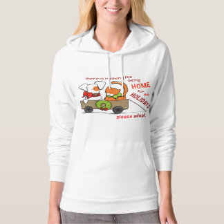 Pet Adoption Patch n Rusty Home for Christmas Hoodie