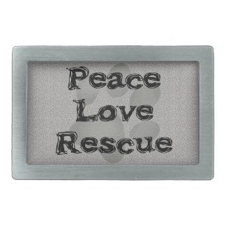 Pet Adoption Peace Love Rescue Belt Buckles