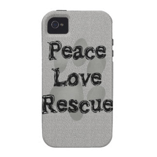 Pet Adoption Peace Love Rescue iPhone 4 Case