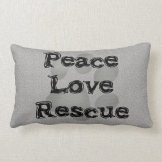 Pet Adoption Peace Love Rescue Lumbar Pillow