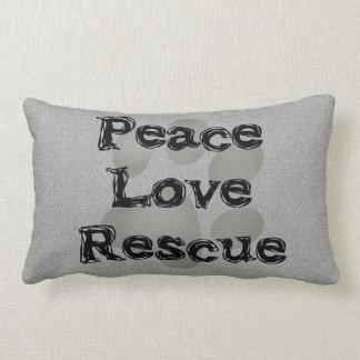 Pet Adoption Peace Love Rescue Throw Pillows