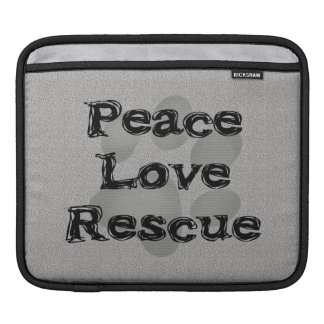 Pet Adoption Peace Love Rescue Sleeve For iPads