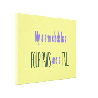 Pet Alarm Clock - Yellow Background Canvas Print