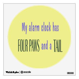 Pet Alarm Clock - Yellow Background Room Graphics