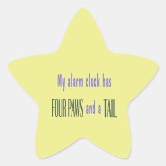 Pet Alarm Clock - Yellow Background Star Sticker